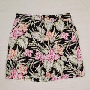3/$30 Croft & Barrow skort skirt floral sz 6